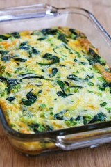 Spinach and Mozzarella Egg Bake from Kalyn